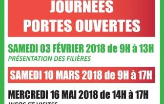 dates des journées portes ouvertes 2018